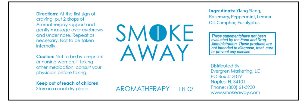 Smoke Away Aromatherapy Label
